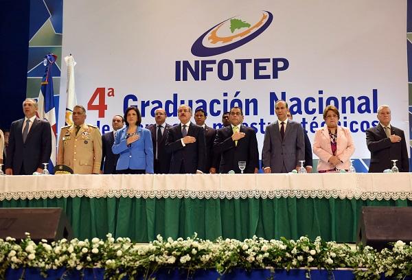 José Ramón Peralta, Teniente General Ruben Darío Paulino Sem, Margarita Cedeño, Presidente Danilo Medina, Rafael Ovalles, Winston Santos, Alejandrina Germán y Nelson Toca