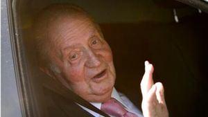 Rey Juan Carlos tras la operación de corazón, en el hospital Quirónsalud de Pozuelo de Alarcón en Madrid.