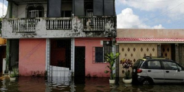 Sectores inundados por las lluvias