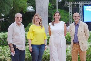 Luis Felipe Rodríguez, María Luisa Asilis, Priscilla Torres y Mario Núñez.