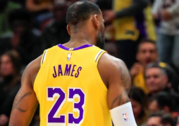 Imagen de archivo del alero LeBron James, de Los Angeles Lakers.