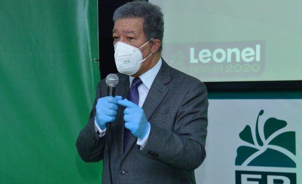 Candidato presidencial de la Fuerza del Pueblo, FP, Leonel Fernández.