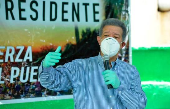 Candidato presidencial de la Fuerza del Pueblo, Leonel Fernández.