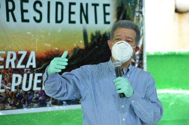 Candidato a la Presidencia de la República Dominicana por La Fuerza del Pueblo (FP), Leonel Fernández.