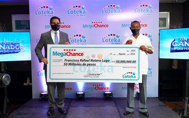 Mecánico retirado nuevo ganador de los 50 millones del Megachance de Loteka