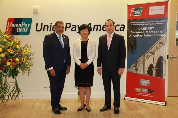 CardNET recibe acreditaciones de UnionPay International