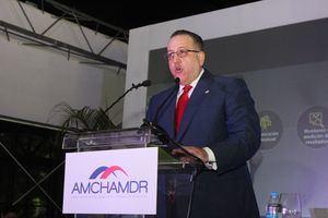 Magín Díaz, director general de Impuestos Internos, y orador del almuerzo AMCHAMDR de agosto 2019.
