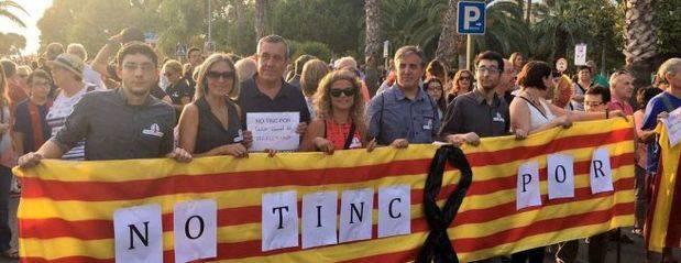"""""""¡No tengo miedo!"""": la manifestación de Barcelona, politizada y con una marcha alternativa catalanista"""