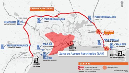 Plano de zona de acceso restringido.