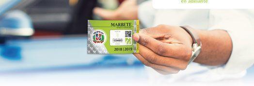 DGII abre el plazo para renovar el marbete, que concluirá el 16 de diciembre.