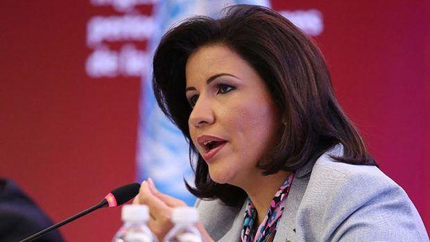La vicepresidenta de la República, Margarita Cedeño.