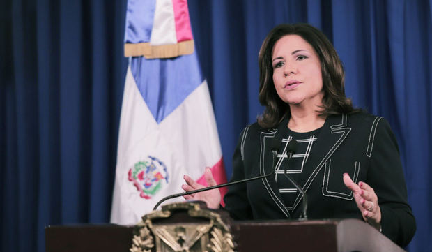 Vicepresidenta de la República, Margarita Cedeño.