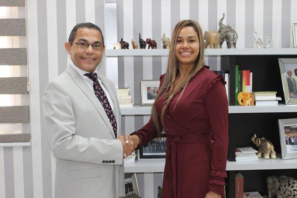 Rafael Ovalles, director de Infotep, y María Marte
