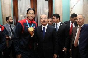 Pamela Rodríguez (Karate), una de las diez medallas de oro que fueron ganadas.