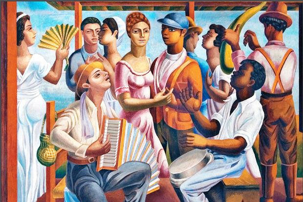 Merengue. C. 1938, Óleo sobre cartón, 52 x 68 cm. Imagen: Museo Bellapart, Santo Domingo.