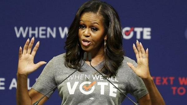 Michelle Obama encabeza mitin en Miami para promover el registro de votantes