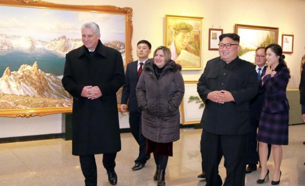 Kim se reúne con Díaz-Canel por segunda vez durante su visita a Pionyang