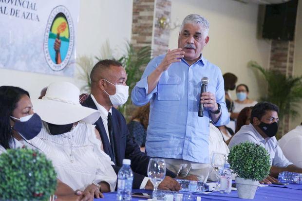 Miguel Vargas reitera en Azua, que no es el momento de reformas, es momento de trabajar en beneficio de la gente