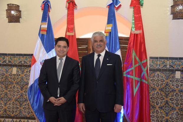 Ministro de Relaciones Exteriores Miguel Vargas y ministro marroquí de Relaciones Exteriores y Cooperación Internacional, Nasser Bourita.