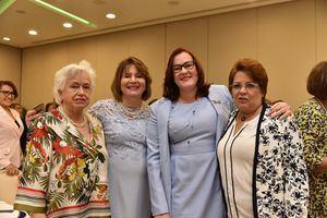 Milagros Ortíz Bosch, Yadira Henríquez, Janet Camilo y Alejandrina Germán.