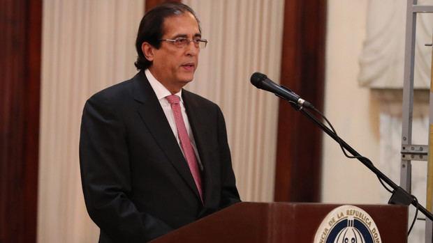 Ministro Gustavo Montalvo.