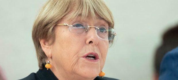 Michelle Bachelet, alta comisionada para los derechos humanos de la ONU.