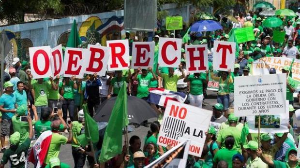 Protestas en contra de Odebrecht