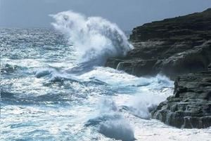 Oleaje peligroso en las costas del país.
