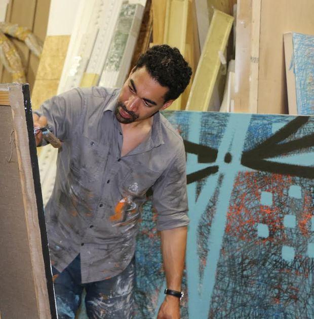 Pintor y gestor cultural dominicano Oscar Abreu.