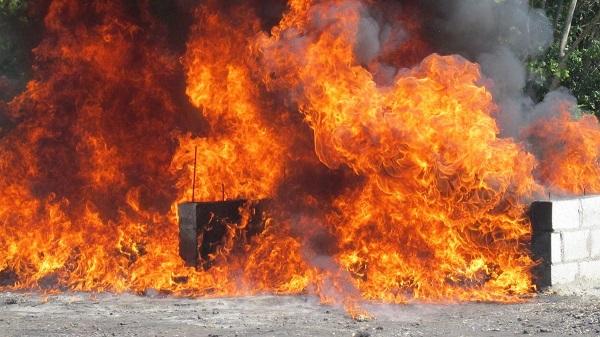 Procuraduría incinera 632 kilogramos de cocaína, marihuana y otras drogas