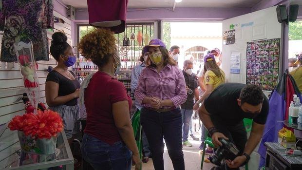 Margarita Cedeño inicia en La Victoria su campaña electoral