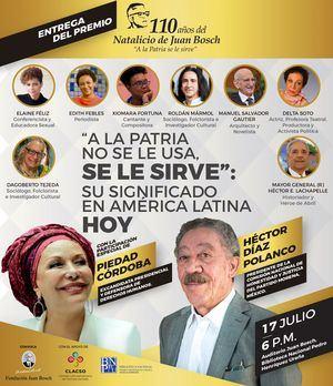 Entrega de premio Fundación Juan Bosch.