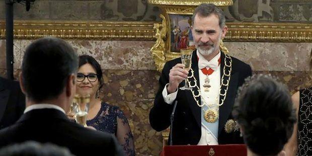 El rey Felipe VI durante una cena de gala.