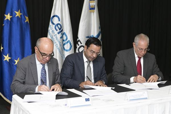 DIGECOOM, CEI-RD y UNION EUROPEA firman acuerdo para fortalecer e internacionalizar las PYMES