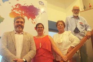 Pablo Viñas, Sandra Estrella de Elías, Raisa Gil de Fondeur y José Prieto.