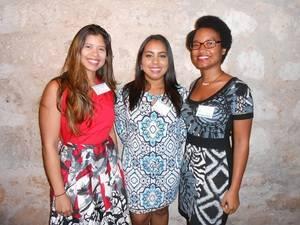 Paola Dominguez, Génesis Camilo y Katerine Lugo.
