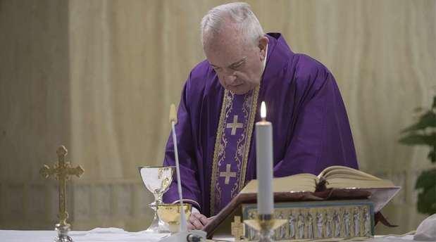 El Papa Francisco en la Misa de la Casa Santa Marta.