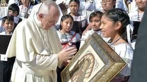 Papa y niños mejicanos