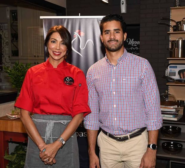 Chef Gabriella Reginato y Juan Miguel Sosa.