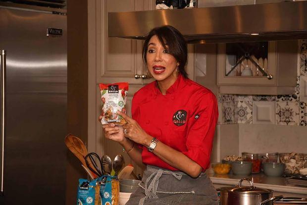 Chef Gabriella Reginato señala la Pasta Gallo fáciles de utilizar.