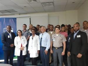 Personal del Área de Seguridad de la Maternidad la Altagracia recibe capacitación en seguridad física para hospitales materno -infantil en la República Dominicana.