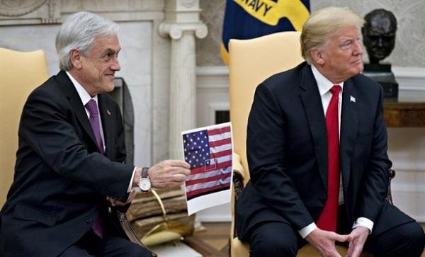 Piñera aborda con Trump la crisis en Venezuela