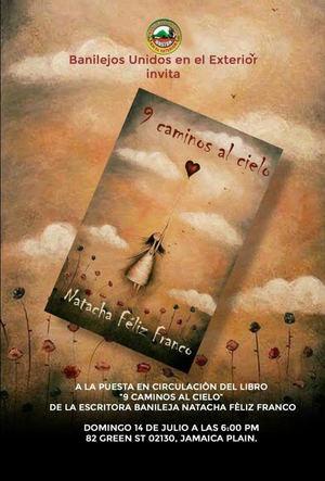 Puesta en circulación libro de Natacha Féliz Franco de relatos 9 caminos al cielo