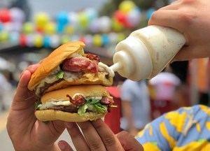 Una de las hamburguesas servidas en el Bocao Food Fest 2018.