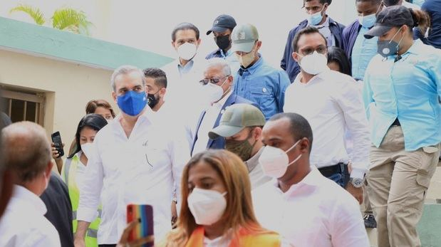 Presidente Abinader en Jornada de Vacunación.