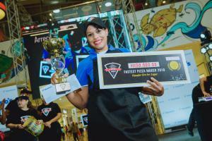 Yajaira Herrera, ganadora del _Fastest Pizza Maker