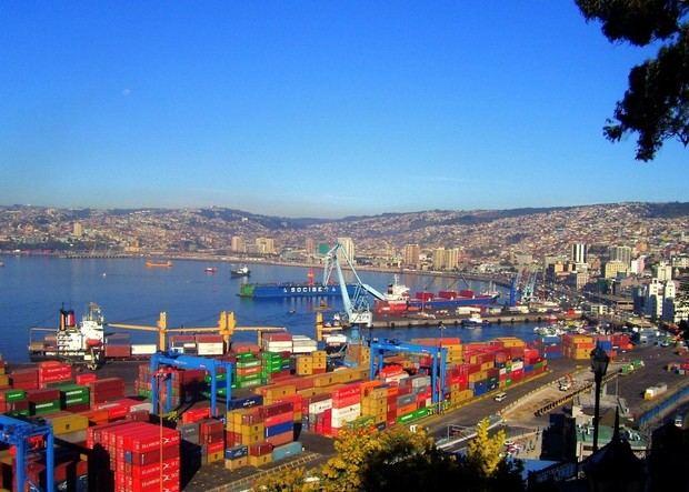 Puerto de Valparaíso, Chile.