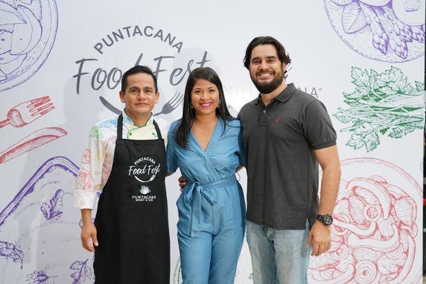Chef Carlos Robles, Carmin Guzmán y Marino Ramírez.