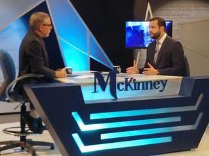 Rafael Paz durante una entrevista en el programa de Pablo McKinney.
