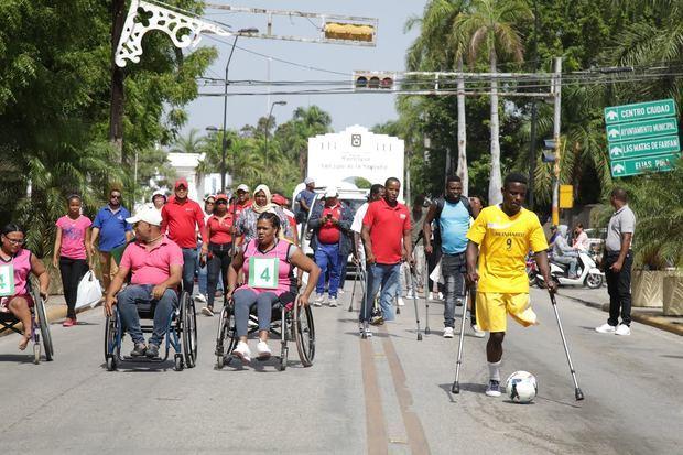 Segundo Rally por la Inclusión que se realizó el CAID en San Juan.